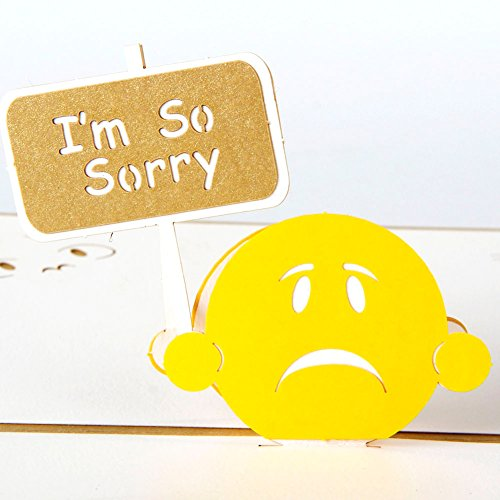 Paper Spiritz Apology Sorry 3D Pop up Post Card