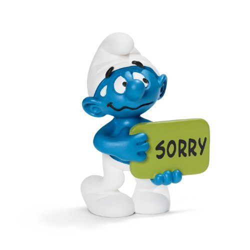 Schleich Sorry Smurf Toy Figure