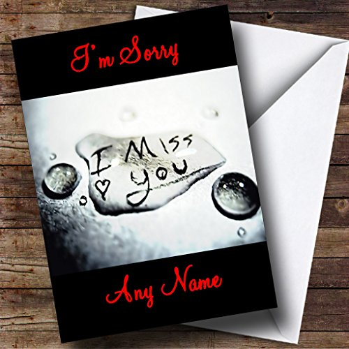 I Miss You Personalized I'M Sorry Card
